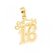 Sweet Sixteen Pendant in 14k Yellow Gold
