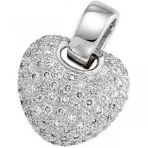 Diamond Heart Pendant in 14k White Gold (1 Ct. tw.) (1 Ct. tw.)