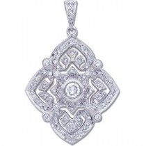 Diamond Pendant in 14k White Gold (0.5 Ct. tw.) (0.5 Ct. tw.)