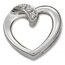 Diamond Heart Pendant in Platinum (0.03 Ct. tw.)