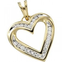Diamond Heart Pendant in 14k Yellow Gold (0.25 Ct. tw.) (0.25 Ct. tw.)