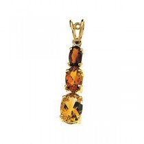 Madeira Citrine Pendant in 14k Yellow Gold