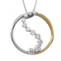 Journey Diamond Pendant in 14k Two-tone Gold (0.5 Ct. tw.) (0.5 Ct. tw.)