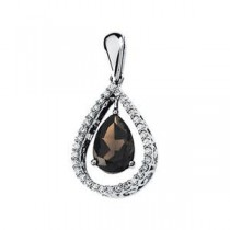 Diamond Pendant Semi Mount in 14k White Gold