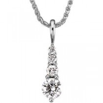 Journey Diamond Pendant in Platinum