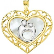 Mother Child Pendant in 10k Yellow Gold