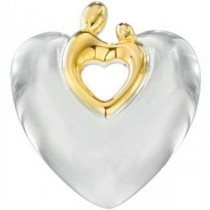 Heart Mother Child Pendant in Sterling Silver