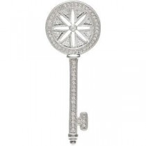 Diamond Key Pendant in Sterling Silver (0.375 Ct. tw.) (0.375 Ct. tw.)