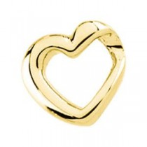 Heart Slide in 14k Yellow Gold