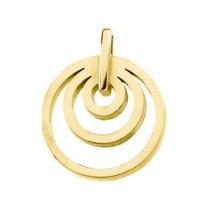 Fashion Circle Pendant in 14k Yellow Gold