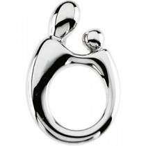 Mother Child Pendant in 14k White Gold