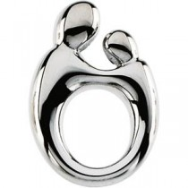 Mother Child Pendant in Sterling Silver