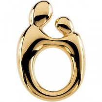 Mother Child Pendant in 14k Yellow Gold