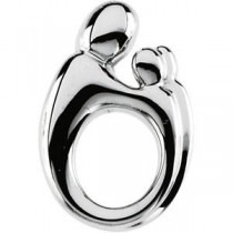 Mother Twin Pendant in 14k White Gold