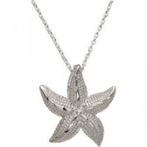 Starfish Pendant in Sterling Silver