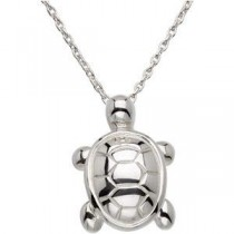 Turtle Pendant in Sterling Silver