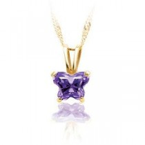 Birthstone Pendant Or Necklace Box in 14k Yellow Gold