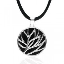 Genuine Onyx Necklace in Sterling Silver