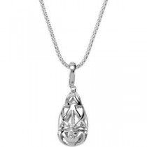 Open Cage Pendant Enhancer in Sterling Silver