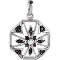 Decorative Pendant in Sterling Silver (0.015 Ct. tw.)