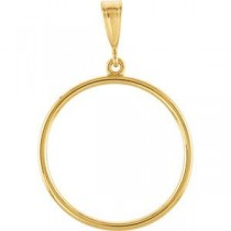 Circle Shaped Pendant in 14k Yellow Gold