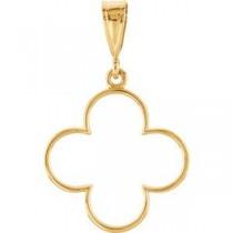 Decorative Pendant in 14k Yellow Gold