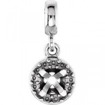 Halo Pendant For Center in 14k White Gold (0.2 Ct. tw.)