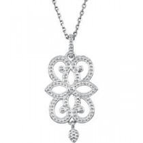 Granulated Design Fashion Pendant Or Necklace in Sterling Silver