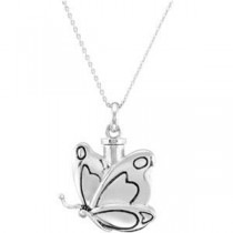 Butterfly Ash Holder Pendant Chain in Sterling Silver