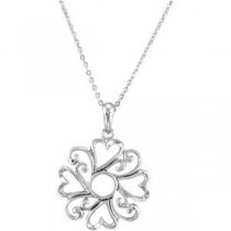 Remember I Love You Middle Child Necklace in Sterling Silver