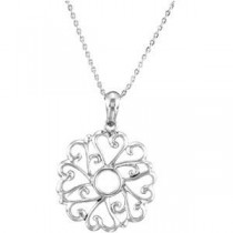 Remember I Love You Youngest Child Necklace in Sterling Silver