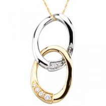 Journey Of Marriage Pendant in 14k Two-tone Gold