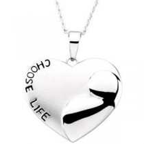 Choose Life Pendant Chain in Sterling Silver