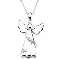 Angel Ash Holder Pendant Chain in Sterling Silver