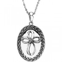 Employed By The Lord Pendant Chain in Sterling Silver