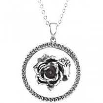 Mother Is A Friend Pendant Chain in Sterling Silver