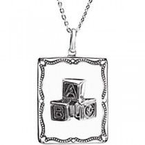 A Baby Is A Gift Pendant Chain in Sterling Silver