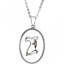 Enjoy Life Pendant Chain in Sterling Silver