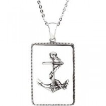 Cancer Courage Pendant Chain in Sterling Silver