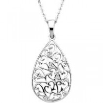 Tear Of Sympathy Pendant Chain in Sterling Silver