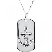 Covenant Of Hope Dog Tag Necklace in Sterling Silver
