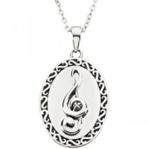 Sing Pendant Chain in Sterling Silver