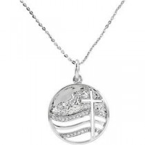 Move The Mountains Lord Pendant Chain in Sterling Silver