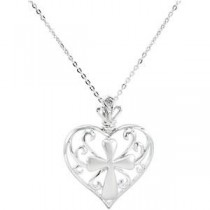 The Worth Of A Woman Pendant Chain in Sterling Silver
