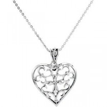 The Worth Of A Mother Pendant Chain in Sterling Silver