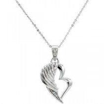 The Broken Wing Pendant Chain in Sterling Silver