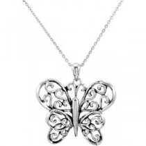 The Butterfly Principle Pendant Chain in Sterling Silver