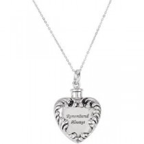 Remembered Always Ash Holder Pendant Chain in Sterling Silver