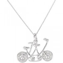 Let God Lead The Way Pendant Chain in Sterling Silver