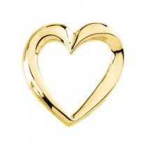 Heart Chain Slide in 14k Yellow Gold